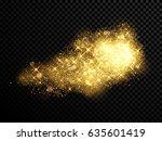 gold sparkling glitter and...   Shutterstock .eps vector #635601419