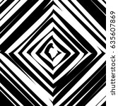 black and white hypnotic... | Shutterstock . vector #635607869