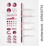 timeline vector infographic.... | Shutterstock .eps vector #635610731