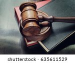 judge gavel and red and black