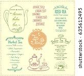 tea menu list designs set.... | Shutterstock .eps vector #635612495