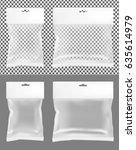transparent empty plastic... | Shutterstock .eps vector #635614979