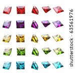 jewelry gems shape of square on ... | Shutterstock . vector #63561976