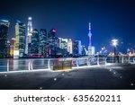 shanghai at night  china | Shutterstock . vector #635620211