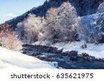 Swift River In Winter  Austria