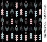 boho pattern | Shutterstock .eps vector #635624831