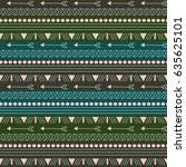 boho pattern | Shutterstock .eps vector #635625101