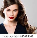 beauty woman face portrait.... | Shutterstock . vector #635625641