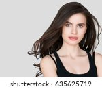 beauty woman face portrait.... | Shutterstock . vector #635625719