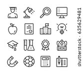education line icons set....