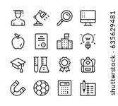education line icons set....