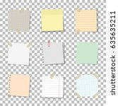 vector set of realistic paper... | Shutterstock .eps vector #635635211