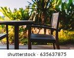 table blank space in coffee... | Shutterstock . vector #635637875