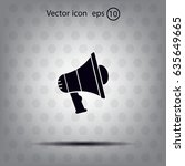 pictograph of megaphone | Shutterstock .eps vector #635649665