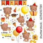 a beary birthday | Shutterstock .eps vector #635650784