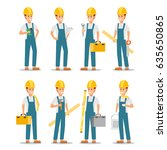 set of working professions.... | Shutterstock .eps vector #635650865