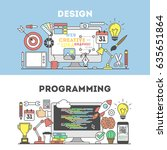 programming and design concept... | Shutterstock .eps vector #635651864