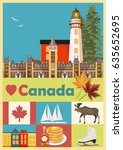 canada. canadian tradition... | Shutterstock .eps vector #635652695