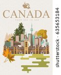 canada. canadian tradition... | Shutterstock .eps vector #635653184