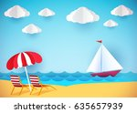 summer flyer  banner or poster. ... | Shutterstock .eps vector #635657939