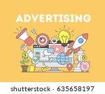 advertising concept... | Shutterstock .eps vector #635658197