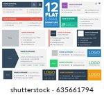 12 flat and modern e mail... | Shutterstock .eps vector #635661794
