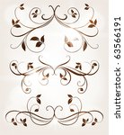 set of swirl floral ornaments... | Shutterstock .eps vector #63566191