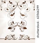 set of swirl floral ornaments... | Shutterstock .eps vector #63566299