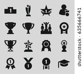 achievement icons set. set of... | Shutterstock .eps vector #635666741