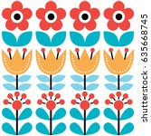 scandinavian seamless pattern ... | Shutterstock .eps vector #635668745