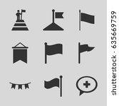 flag icons set. set of 9 flag...