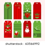 christmas tags | Shutterstock .eps vector #63566992