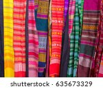 close up different colors shirt ... | Shutterstock . vector #635673329