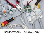 installation of electrical...   Shutterstock . vector #635676209