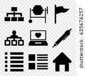 site icons set. set of 9 site...