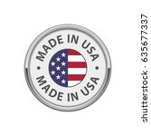 """round """"made in usa"""" badge with... 