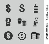 income icons set. set of 9... | Shutterstock .eps vector #635677811