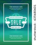 summer sale banner shopping on... | Shutterstock .eps vector #635680601