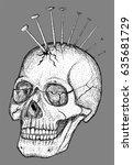 hand drawn vector illustration. ... | Shutterstock .eps vector #635681729