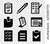 list icons set. set of 9 list...   Shutterstock .eps vector #635685755