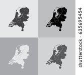 vector map netherland country   Shutterstock .eps vector #635695454
