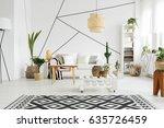 contemporary design of cozy...   Shutterstock . vector #635726459