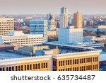 skyline of winnipeg with... | Shutterstock . vector #635734487