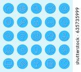 round blue web icons