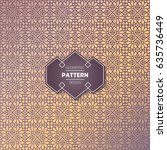 ethnic floral seamless pattern... | Shutterstock .eps vector #635736449