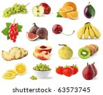 isolated fruits. collection of... | Shutterstock . vector #63573745