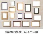 many various blank frameworks... | Shutterstock . vector #63574030