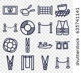 Rope Icons Set. Set Of 16 Rope...