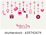 mothers day card or background. ... | Shutterstock .eps vector #635742674