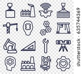 engineering icons set. set of... | Shutterstock .eps vector #635744369